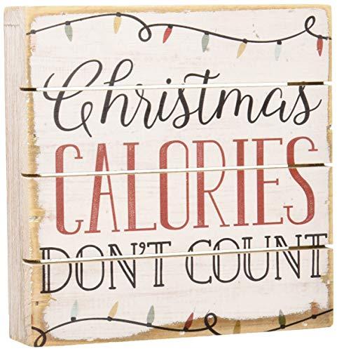 Sincere Surroundings PET1270 Christmas Calories 6 x 6, White]()