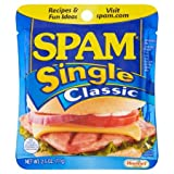 SPAM Classic Single Lunch Meat, 2.5 oz Pouch - 12 Pack