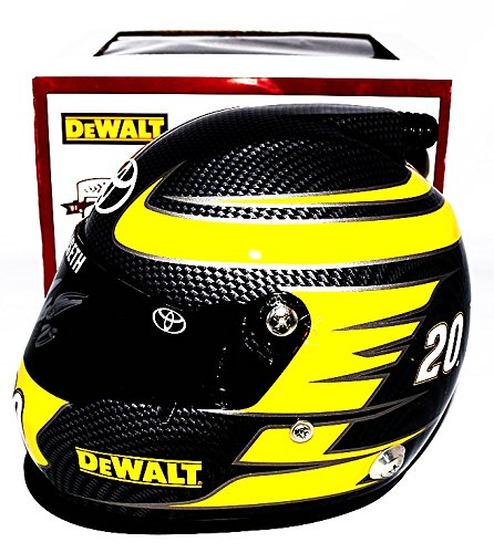 AUTOGRAPHED 2016 Matt Kenseth #20 DeWalt Racing (Joe Gibbs Team 25th Anniversary) Sprint Cup Series Signed Lionel 1/2 Scale NASCAR Replica Mini Helmet with COA (Limited ()