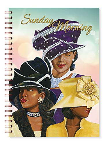"""Health & Personal Care : African American Expressions - Sunday Morning, Ladies with Hats, Journal (128 pages, 6.25"""" x 8.5"""") J-175"""