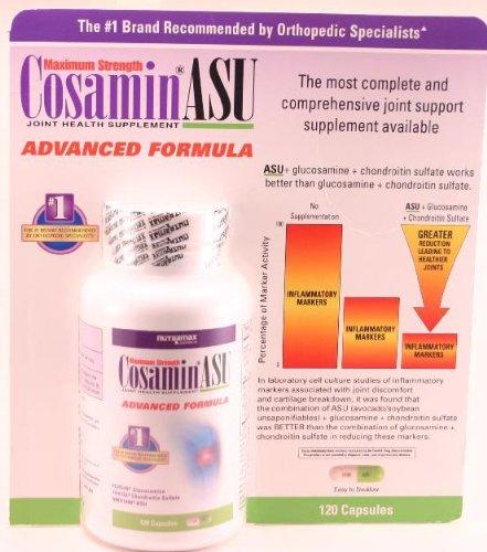 Nutramax Cosamin ASU advanced formula joint health supplement - 120 capsules (Cosamin Formula Advanced Asu)