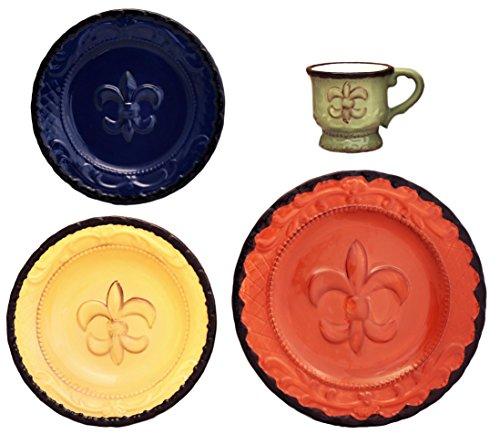 Tuscany Fleur De Lis 16 Piece Dinnerware Set (Lis Fleur De Plates)