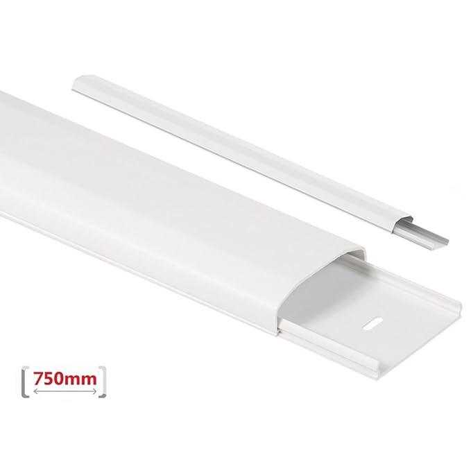 64 x 21,5 x 40 mm wei/ß Maclean MC-696 Verbindungsst/ück//Organizer f/ür Kabelkanal