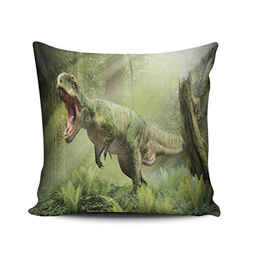 (SALLEING Custom Fashion Home Decor Pillowcase Cool Dinosaur Square Throw Pillow Cover Cushion Case 18x18 Inches One Sided Print)