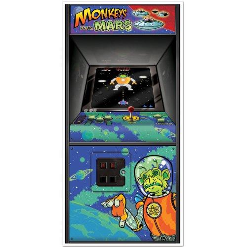 Arcade Game Door Cover Party Accessory (1 count) (Halloween Themed Door Decorations)