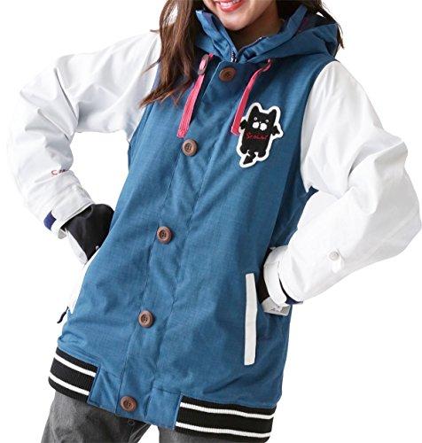 ScoLar(スカラー)全4色レディーススノーボードウェアジャケットスタジャンタイプSCJ-5103MM32011号サイズボードウェアウエアスノボウェアスノージャケットスキーウェアかわいい女性用