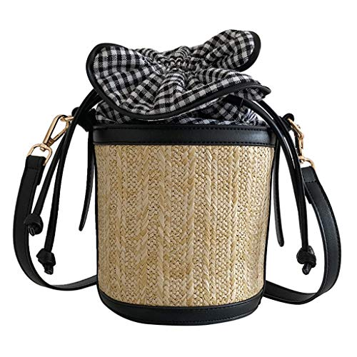 - Pengy Women Straw Crossbody Bag Shoulder Waterproof Crossbody Bag Shoulder Bag Summer Beach for Travel Everyday Use