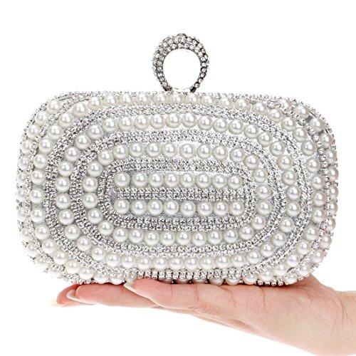e socialite FUBULE di serate lusso borsa da da pochette per notturne sposa Silver banchetti per sera Borsa borsa per con w0qSRxqgO