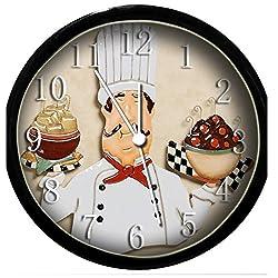 Glow In the Dark Wall Clock - Fat Chef Ornament