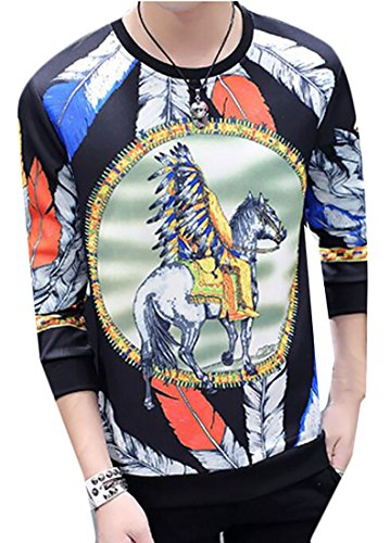 Sweatshirt UK Sport today 3D Men's Round Long Neck Coat 2 Print Sleeve On1n6