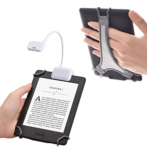 TFY Clip-on LED Reading Light with 2 Levels of Lumen Intensity for Kindle, Other e-Readers, Tablets, Books Plus Bonus…