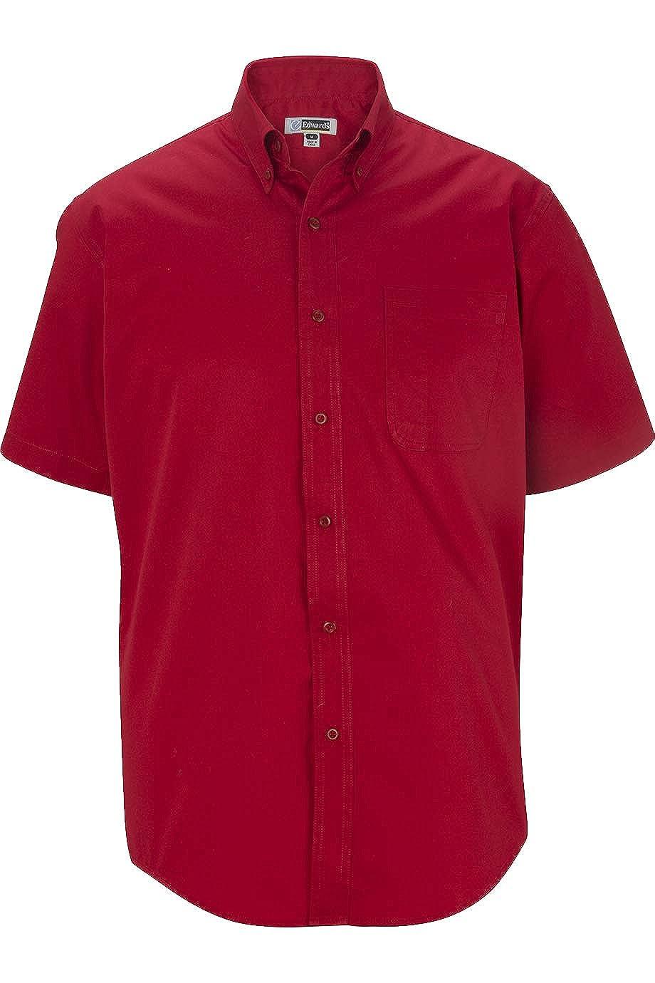 Edwards Mens Cottonplus Short Sleeve Twill Shirt