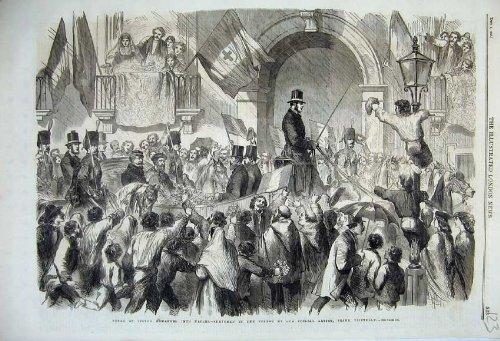 1860 Coach - old-print Print 1860 Victor Emmanuel Naples Toledo Horse Coach War 123N110