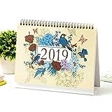 """2019 Desk Calendar Flip Monthly Calendar Planner - Flower and Bird 9.25"""" x 7.85"""""""