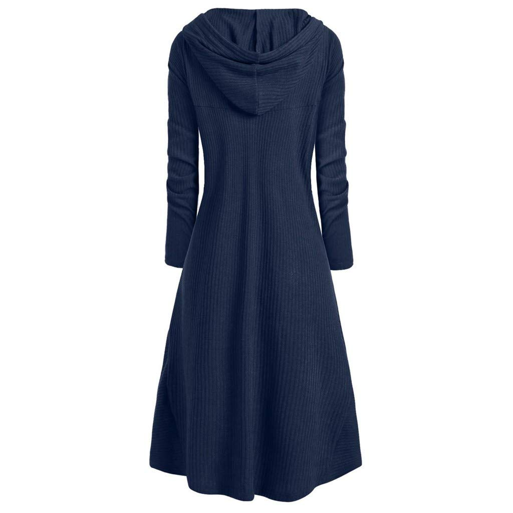 Hupoop Damen Kapuzen Pullover Plus Gr/ö/ße Jahrgang Mantel Punk Jacke Mode Frauen Hohe Niedrige Strickjacke Tops Blusen Oberseiten Winter Warm Sweatshirt