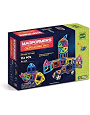 Magformers Challenger Set (112-pieces) Deluxe Magnetic    Building      Blocks, Educational  Magnetic    Tiles Kit , Magnetic    Construction  shapes STEM Toy Set - 63077