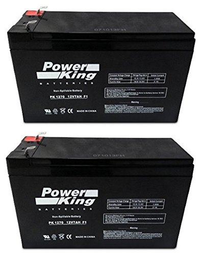 12V 7AH Sealed Lead Acid SLA Battery for RAZOR Scooter 2PK