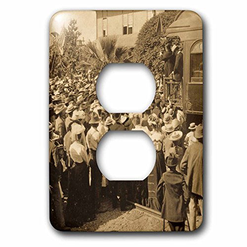 Scenes from the Past Stereoview - Greeting Roosevelts train in Reno Nevada 1903 vintage stereoview. - Light Switch Covers - 2 plug outlet cover - Nevada Outlets Reno