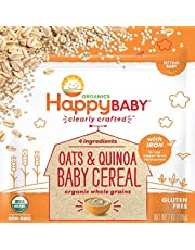 Happy Baby - Oats & Quinoa - Gluten Free with Iron - One 7 oz Pack