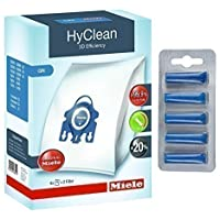 Véritables sacs à poussière efficaces GN HyClean 3D pour aspirateur Miele + désodorisants gratuits