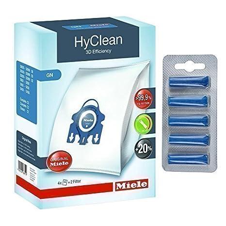 Miele HyClean 3D - Bolsas para aspiradora Miele originales, incluye ambientadores gratis