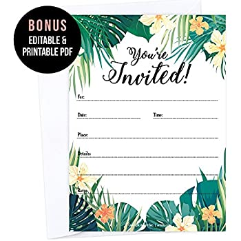 GUITAR BLANK card Birthday or Anniversary or Party Invitations Music
