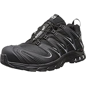 Salomon Men's XA Pro 3D CS Waterproof Trail Running Shoe,Black/Black/Pewter,9 M US