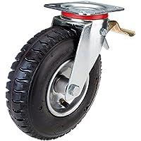 Rueda giratoria con bloqueo, rueda neumática de 225