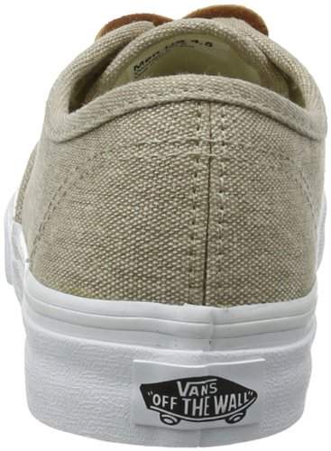 Vans Unisex Authentic Skateschuh (Washed Canvas) Creme / True