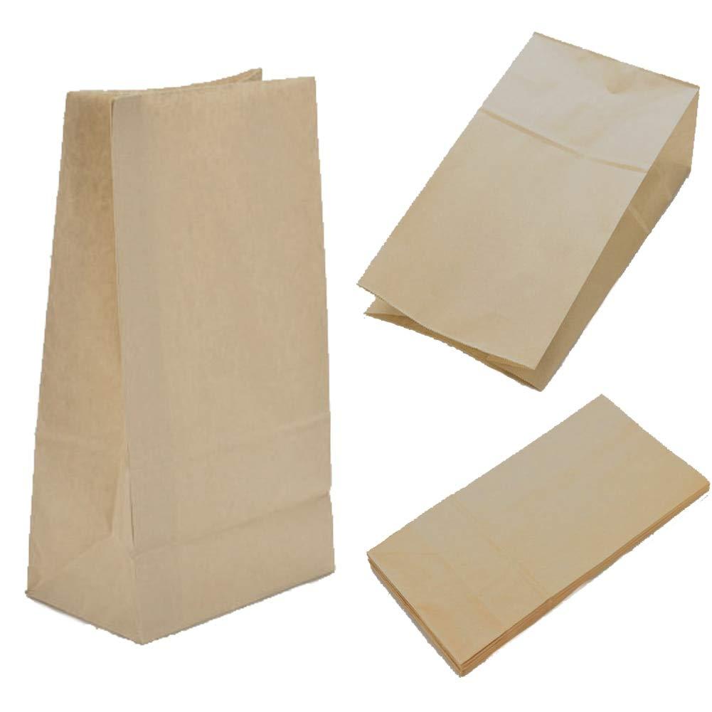 Amazon.com: Cestas de bolsas de papel Hinmay pequeña marrón ...