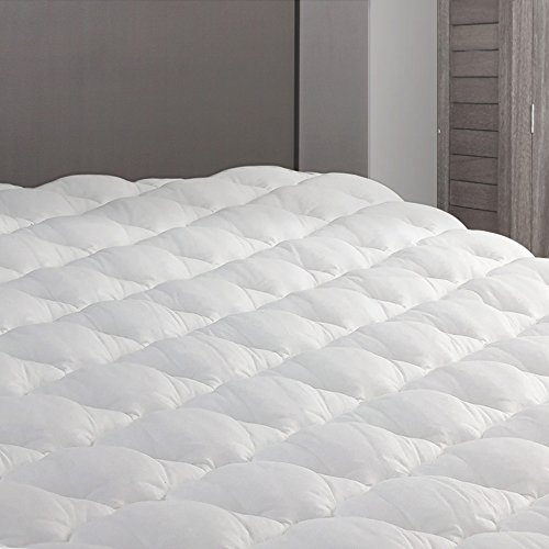 Camper Full (RV Mattress Pad - Extra Plush Topper with Fitted Skirt - Found in Marriott Hotels - Made in The USA - Hypoallergenic - Mattress Cover for RV, Camper - RV Full/Three Quarter)