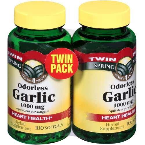 Inodore 1000 mg d'ail, Twin Pack