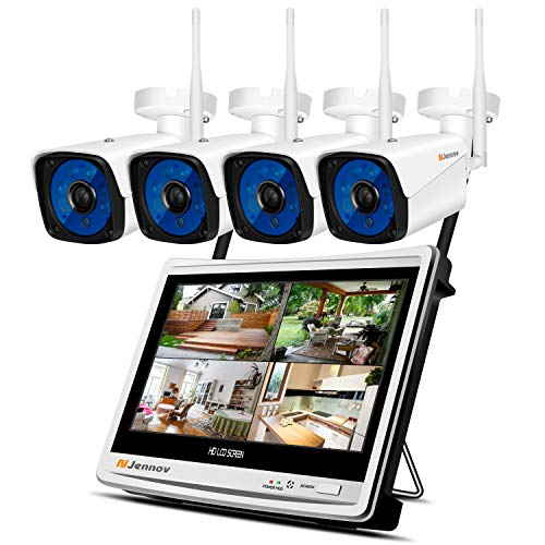 - Security Camera System Wireless,Jennov 1080P Wireless Security System 12