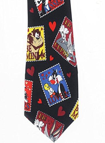 - Looney Tunes Tie Necktie Love Be Mine Valentine Sylvester Pepe La Pew Tazmanian Devil Bugs