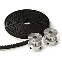 HICTOP 2 X Aluminum Gt2 20t Pulley Set and 2 Meters Belt for Reprap 3d Printer Prusa i3
