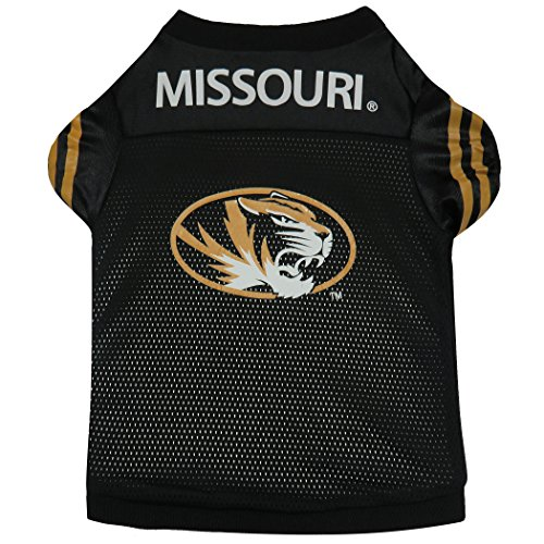 Sporty K9 University of Missouri Dog Football Jersey, Large