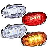 DNA MOTORING FENDL-FSD11-CH LED Rear Dually Fender Side Marker Light Lamp Replacement 4Pcs