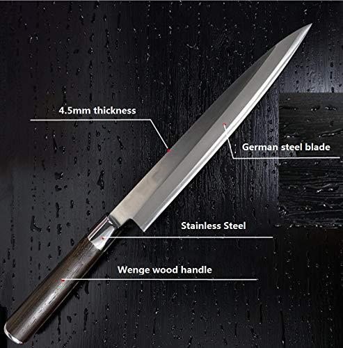 Japanese Sushi sashimi Knife German steel 210mm 240mm 270mm 300mm (330mm) by KMZ KITCHEN (Image #1)