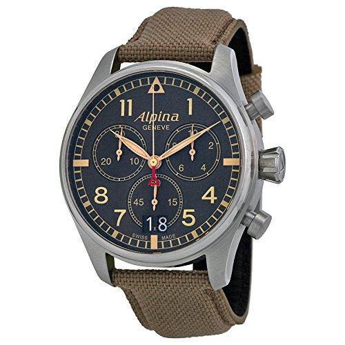 Alpina Geneve Startimer Pilot AL-372BGR4S6 Cronógrafo para hombres Reloj Aeronóautico: Amazon.es: Relojes