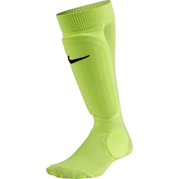 NIKE Kids' Unisex Shin Sock Sleeve, Volt/Volt/Black, Small/