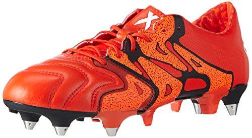 adidas X 15.1 SG Leather - Botas para hombre Naranja / Negro / Rojo