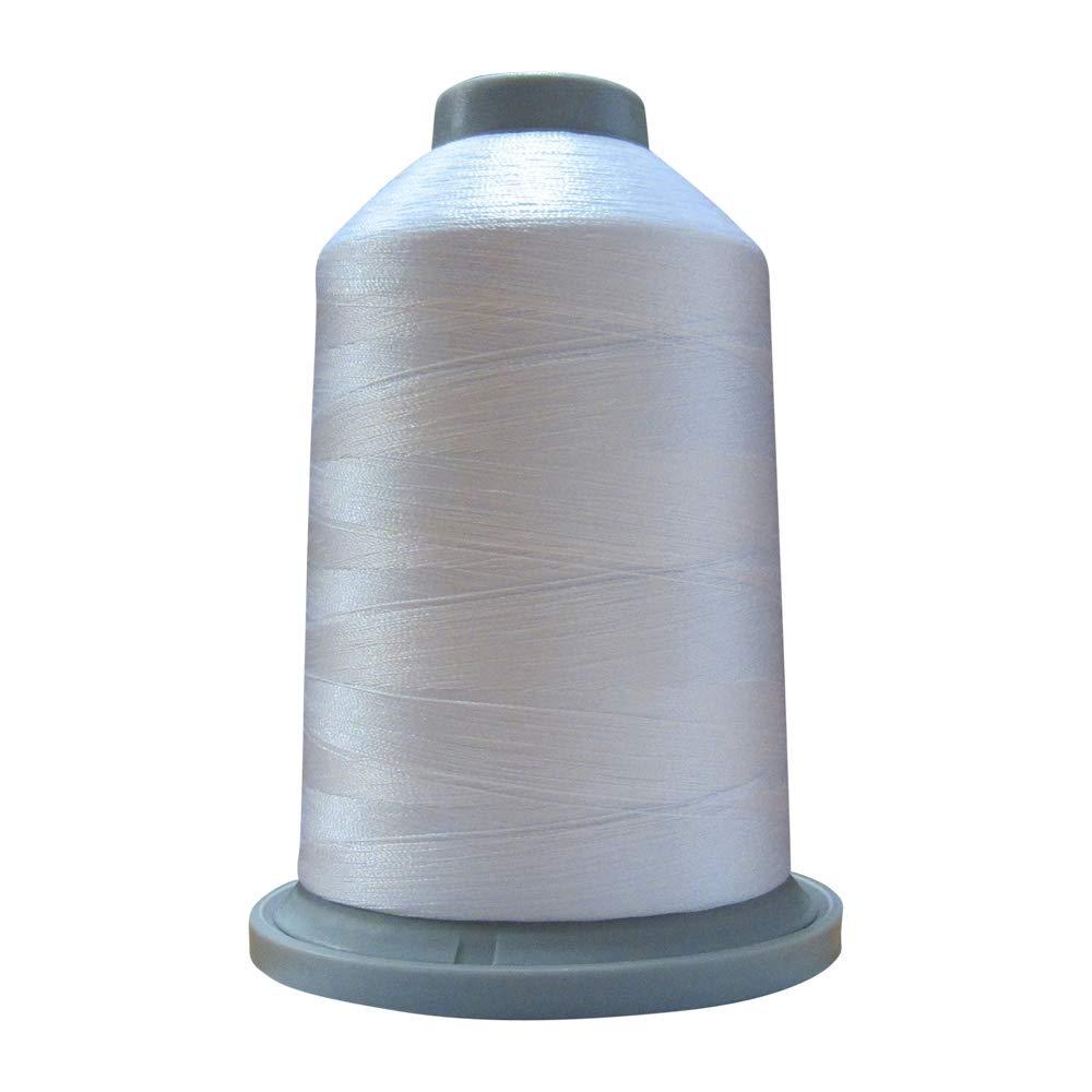 Glide Thread Trilobal Polyester No 10002 Super White 40-5000 Meter Spool