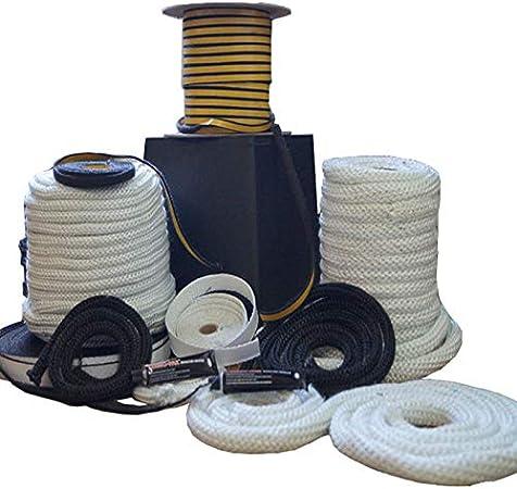 100 m junta redonda para puerta de 6,8,10,12,14,16,18,20 mm 1 estufa Junta para horno cord/ón resistente al calor blanco