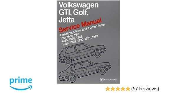 volkswagen gti golf jetta service manual 1985 1986 1987 1988 rh amazon com 1987 VW Jetta Gli 1984 VW Jetta