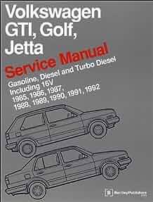 volkswagen gti golf jetta service manual 1985 1986 1987 1988 rh amazon com 2002 VW Convertible VW Rabbit 4 Door 1987