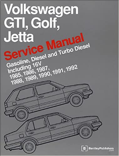 Volkswagen GTI Golf Jetta Service Manual 1985 1986 1987