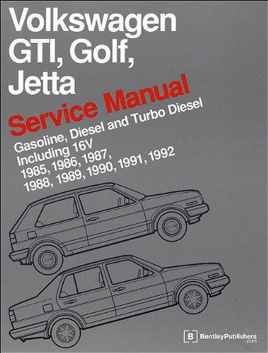 - Volkswagen GTI, Golf, Jetta Service Manual: 1985, 1986, 1987, 1988, 1989, 1990, 1991, 1992, 1992