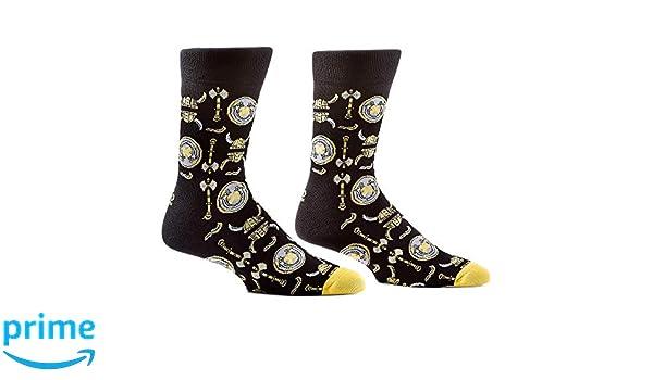 For Bare Feet Minnesota Vikings RMC Stripe Crew Socks Mens Size Large 10-13