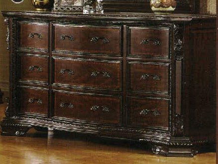 24/7 Shop at Home 247SHOPATHOME IDF-7267D FA-CM7267D Dresser, Walnut