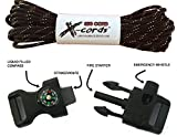 X-cords Emergency Fire Starter Buckle Contoured 1/2 to Make Paracord Bracelet Includes Paracord 850-use with 550 and 750 Cord. (ONE FIRE STARTER BUCKLE)